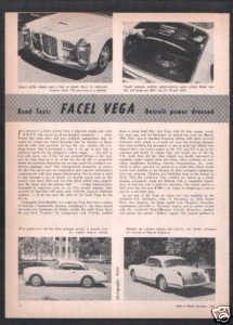 1956-1957 FACEL VEGA ROAD TEST