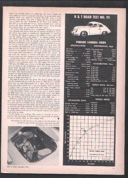 1956 PORSCHE CARRERA ROAD TEST