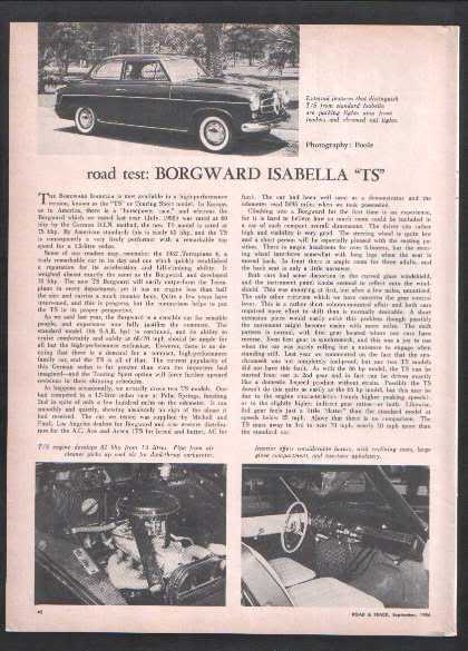 1956 BORGWARD ROAD TEST
