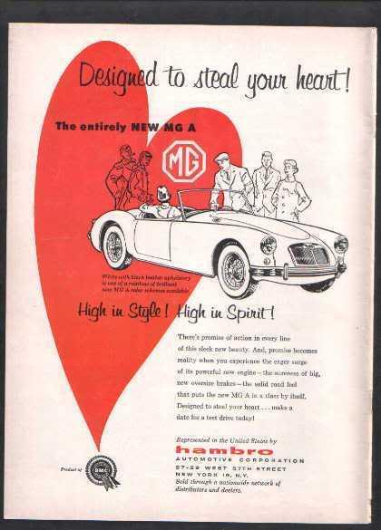 1956 MG CAR AD