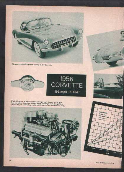 1956 CORVETTE ARTICLE
