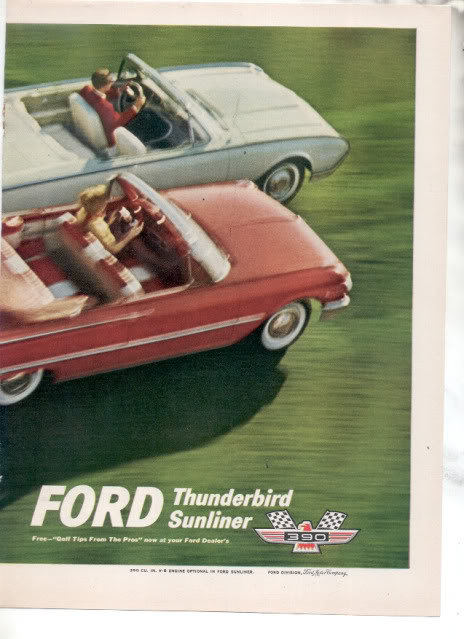 1961 FORD THUNDERBIRD AD-2 PAGE ATTACHED