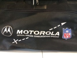 Motorola NFL Football Duffle Bag Rolling Carry On Backpack Travel Luggag... - $72.55