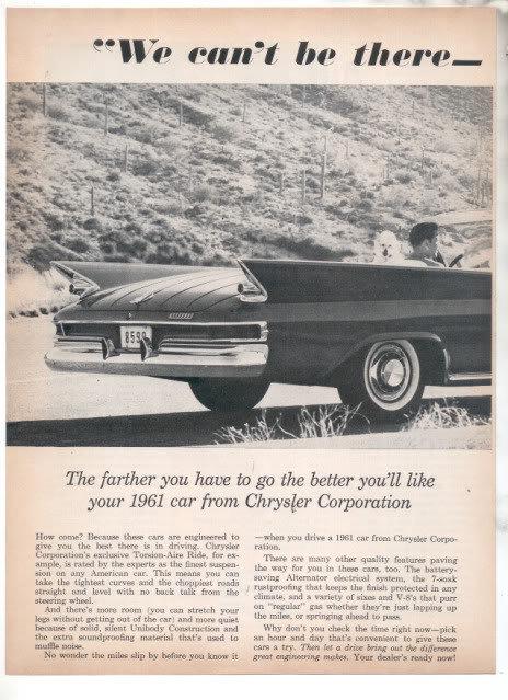 1961 CHRYSLER AD