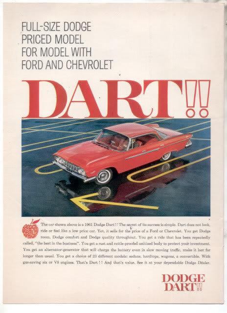 1961 DODGE DART AD