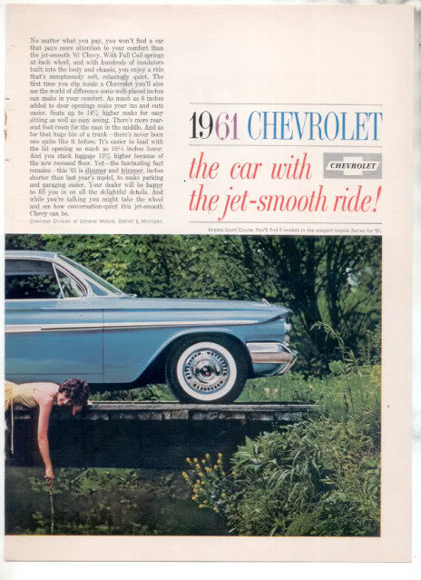 1961 IMPALA AD-2 PAGE ATTACHED