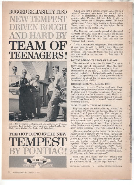 1961 PONTIAC TEMPEST AD