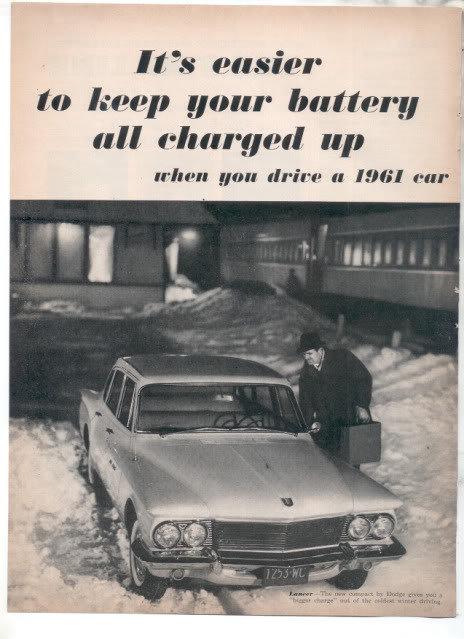 1961 DODGE DART LANCER AD