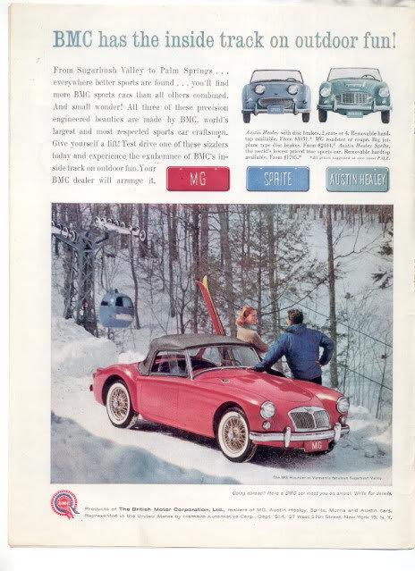 1961 BMC MG ROADSTER AD