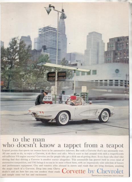 1961 CHEVY CORVETTE AD