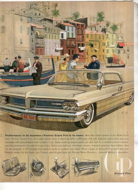 1962 PONTIAC GRAND PRIX AD