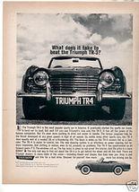 1962 TRIUMPH TR4 AD - $8.99