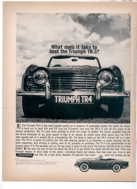 1962 TRIUMPH TR4 AD
