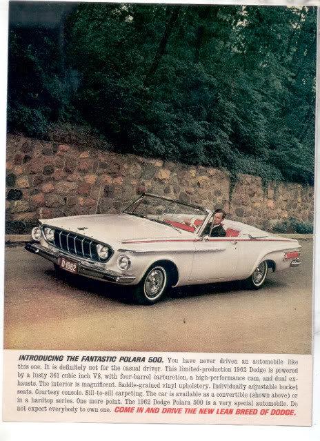 1962 DODGE POLARA 500 AD