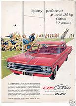 1962 OLDS CUTLASS F85 AD - $8.99