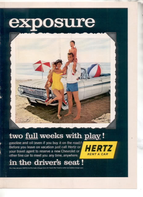 1961 HERTZ IMPALA CAR AD-2 PAGE