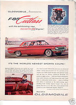 1961 OLDS CUTLASS F-85 AD - $8.99
