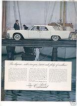 1961 LINCOLN CONTINENTAL AD - $9.99