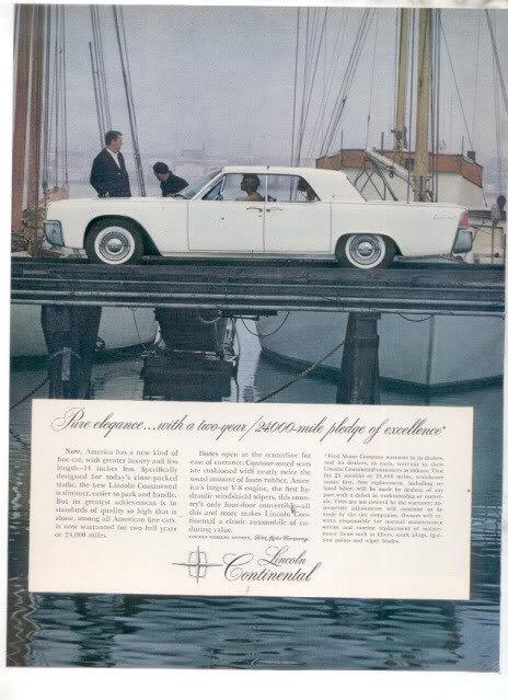 1961 LINCOLN CONTINENTAL AD