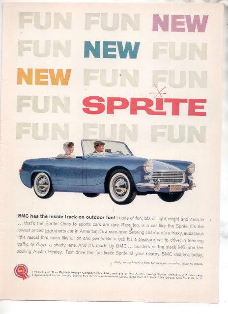 1961 BMC SPRITE AD