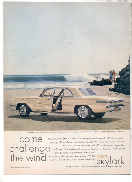 1961 BUICK SKYLARK AD