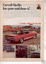 1967 1968 SHELBY GT 350 500 AD - $9.99