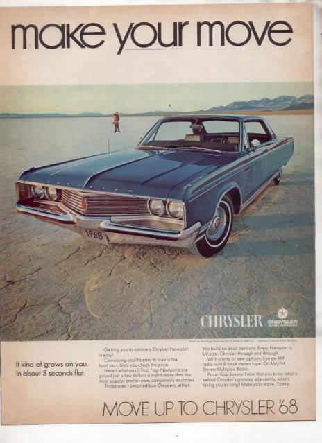 1968 CHRYSLER NEWPORT AD