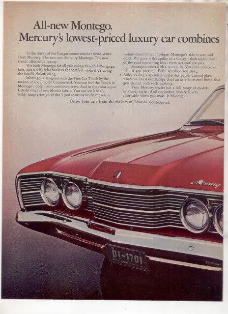 1968 MERCURY MONTEGO AD