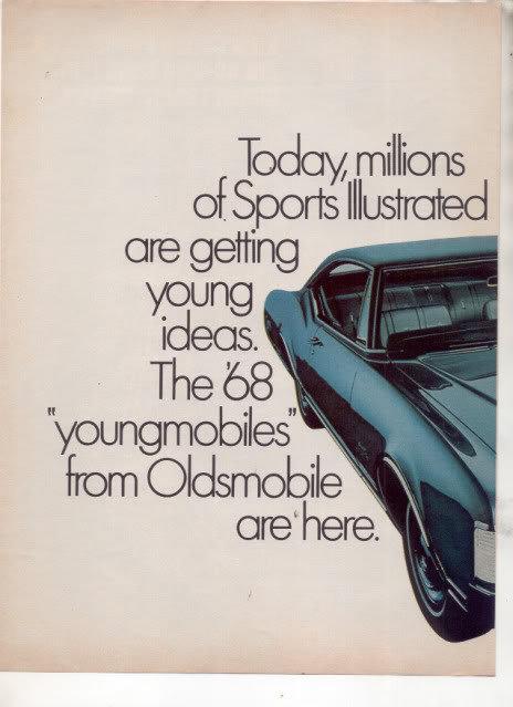 1968 OLDSMOBILE DELTA 88 AD