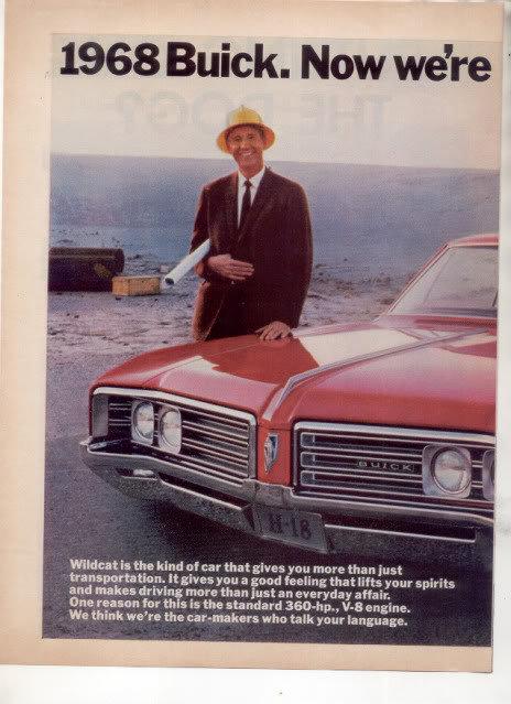 1968 BUICK WILDCAT PRINT AD