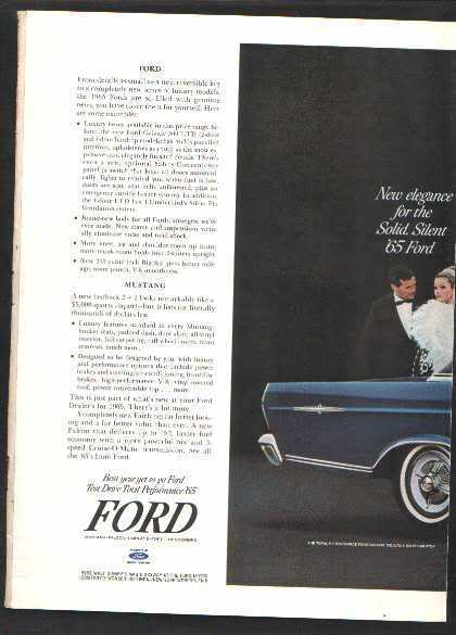 1965 MUSTANG GALAXIE AD