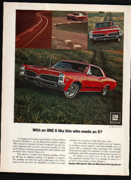 1967 PONTIAC LEMANS SPRINT CAR AD