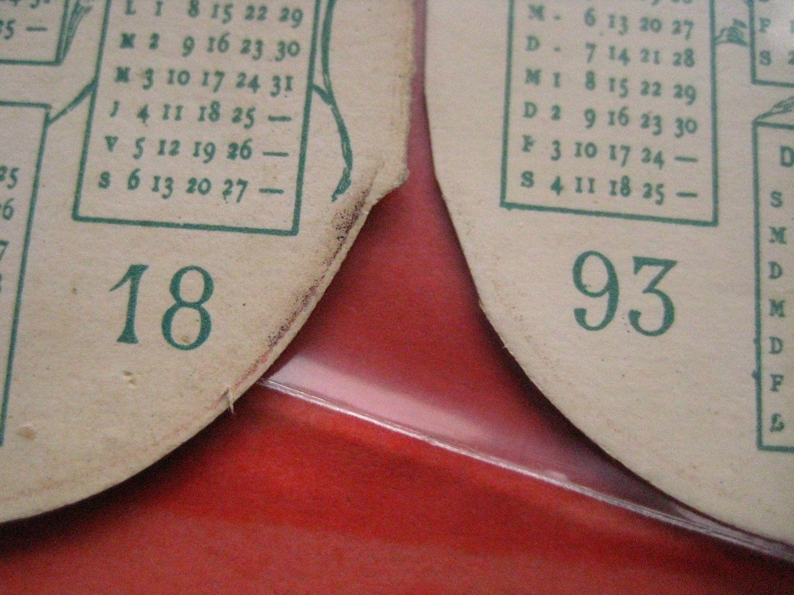 1 calendar 1893 card chocolate SUCHARD WIESER IV nr 4, mandolines cocoa drinking