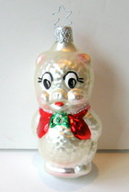 "INGE GLAS, ""PORKY PIG"" Christmas Ornament, Mouth-Blown - $19.00"