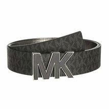 Michael Kors Women's Premium MK Logo Signature Plaque Faux Leather Belt 553504 image 3