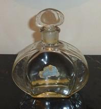 F. MILLOT CREPE DE CHINE RARE EMPTY PERFUME BOTTLE EMBOSSED FLORAL DESIG... - $125.00