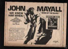 JOHN MAYALL PROMO AD - $12.99