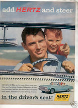 1962 HERTZ IMPALA AD-2-PAGE ATTACHED - $12.99