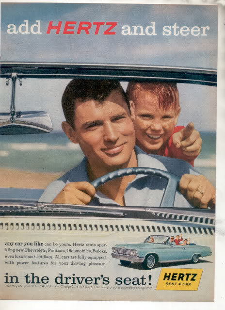 1962 HERTZ IMPALA AD-2-PAGE ATTACHED