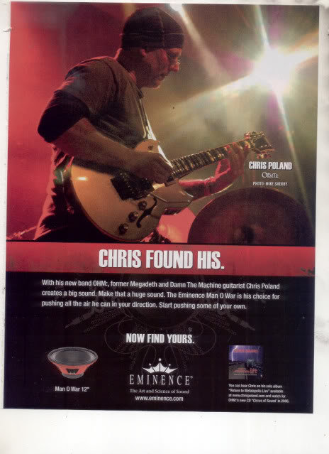 * CHRIS POLAND MEGADETH EMINENCE SPEAKER AD