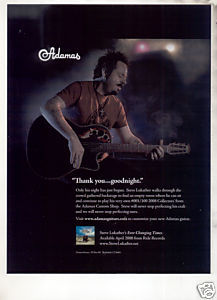 * STEVE LUKATHER ADAMAS GUITAR AD