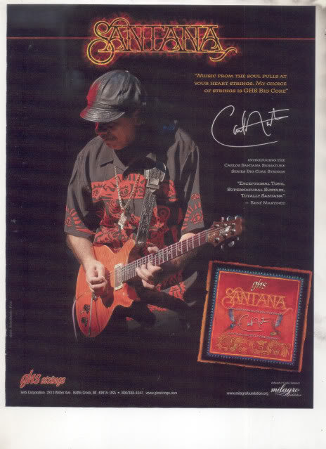 * SANTANA GHS GUITAR STRINGS AD