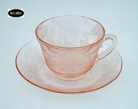 Dogwood Pink Cup (thick) And Saucer Macbeth Evans