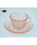 Dogwood Pink Cup (thick) And Saucer Macbeth Evans - $17.25