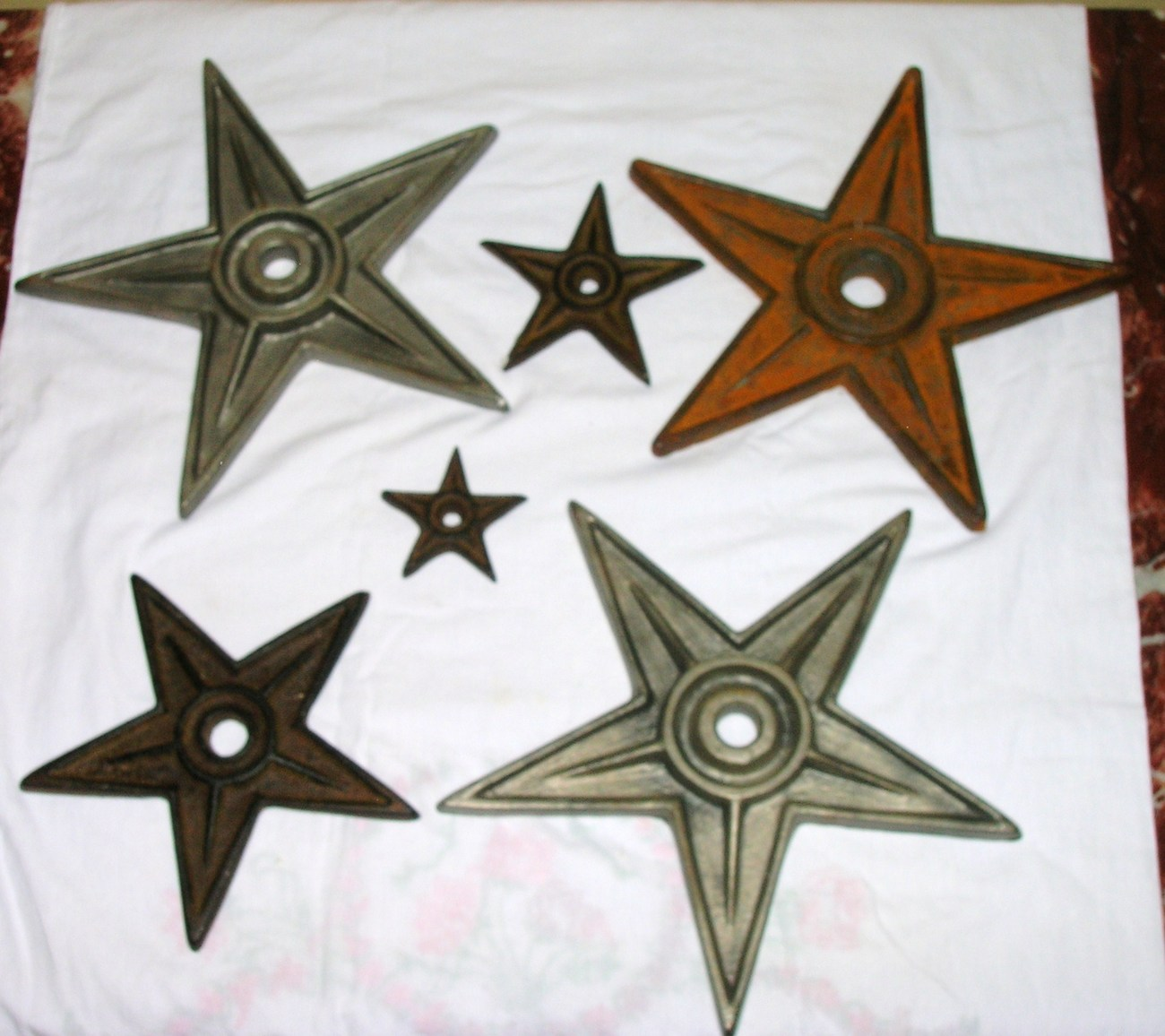 Heavy cast iron texas lone star trivets or wall decor lot for Lone star home decor