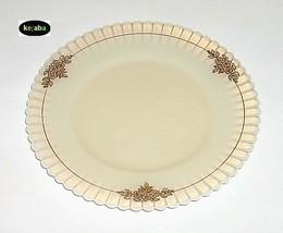 "Petalware Cremax Plate 8"" W/Gold Floral Trim Macbeth Evans - $5.75"