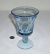 "Fostoria Jamestown Blue Goblet 5 7/8"" Water Stem - $8.95"