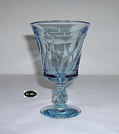 """Fostoria Jamestown Blue Goblet 5 7/8"""" Water Stem"""
