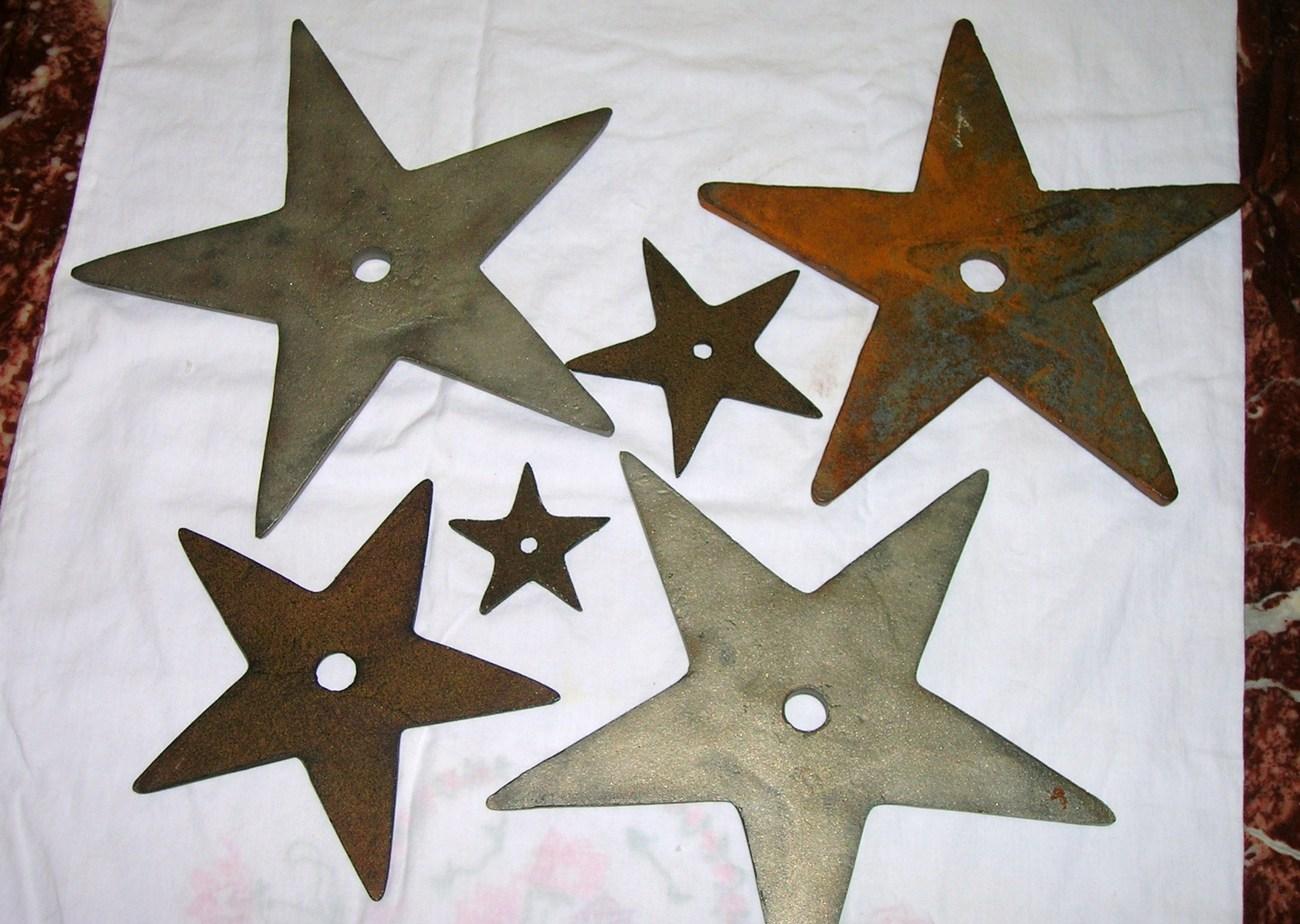 Heavy Cast Iron Texas Lone Star Trivets Or Wall Decor Lot