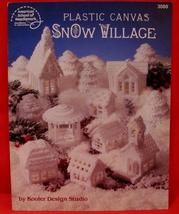 Plastic Canvas Patterns SNOW VILLAGE CHRISTMAS Collector Vintage Collect... - $8.95